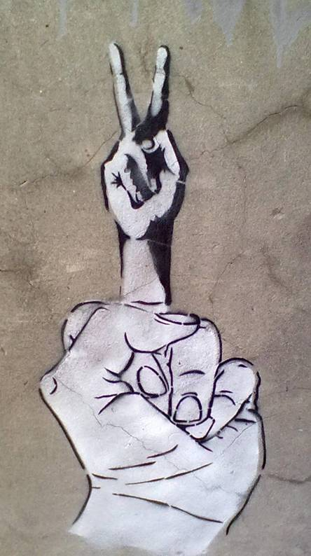 Middle Finger Peace