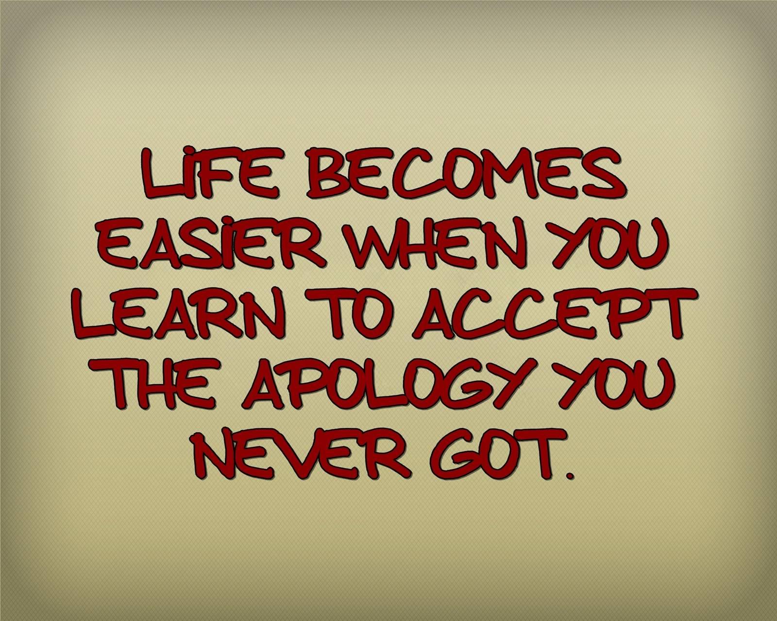 never got