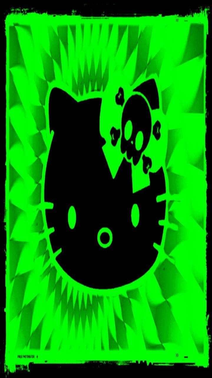 Green Gothic Kitty