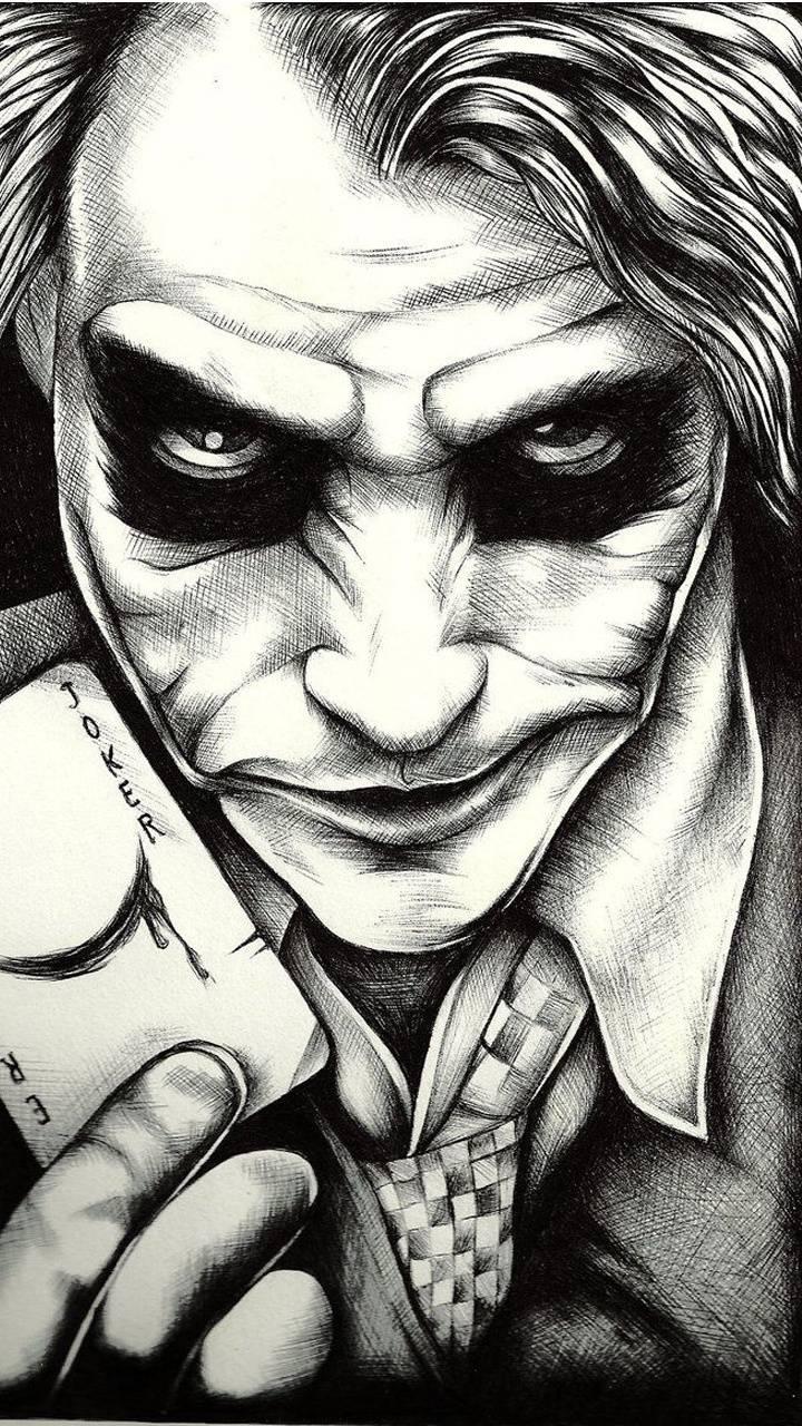 WoowPaper Joker Wallpaper 3d Black And White