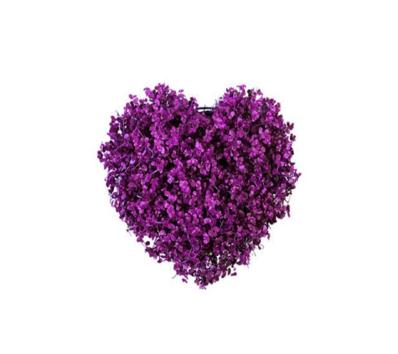 Purple Flowery Heart