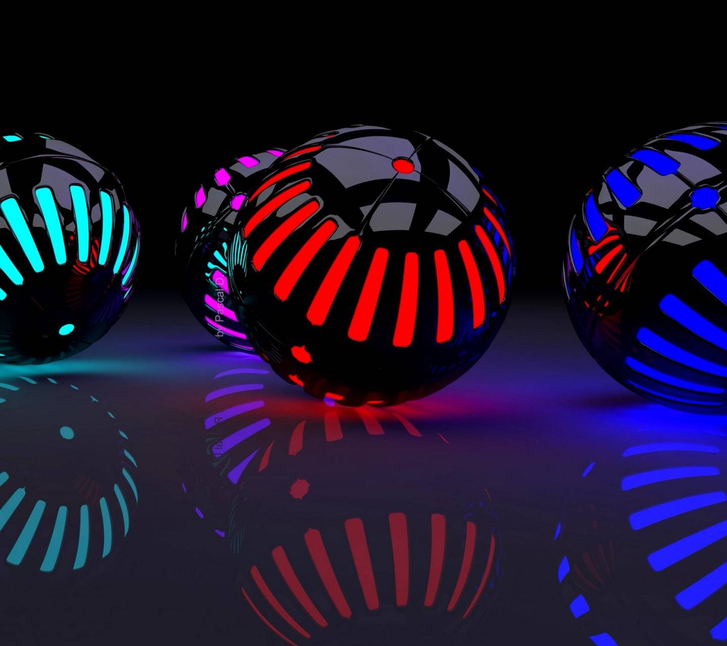 Neon Balls Wallpaper By Pavelericsson