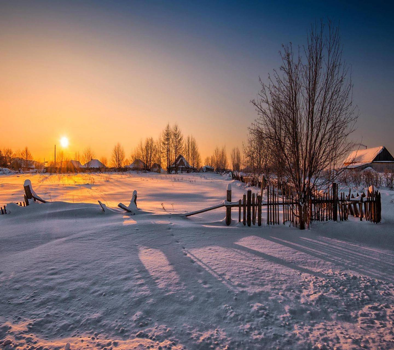 Winter Sunset Snow