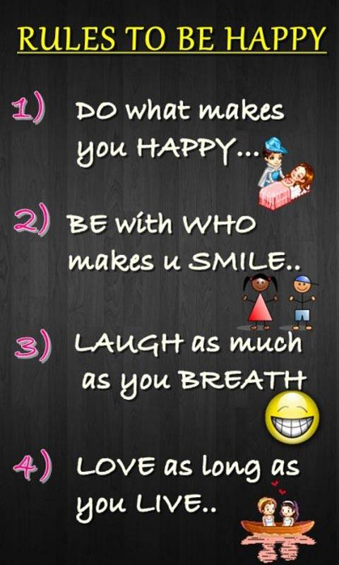 rules 2 be happy