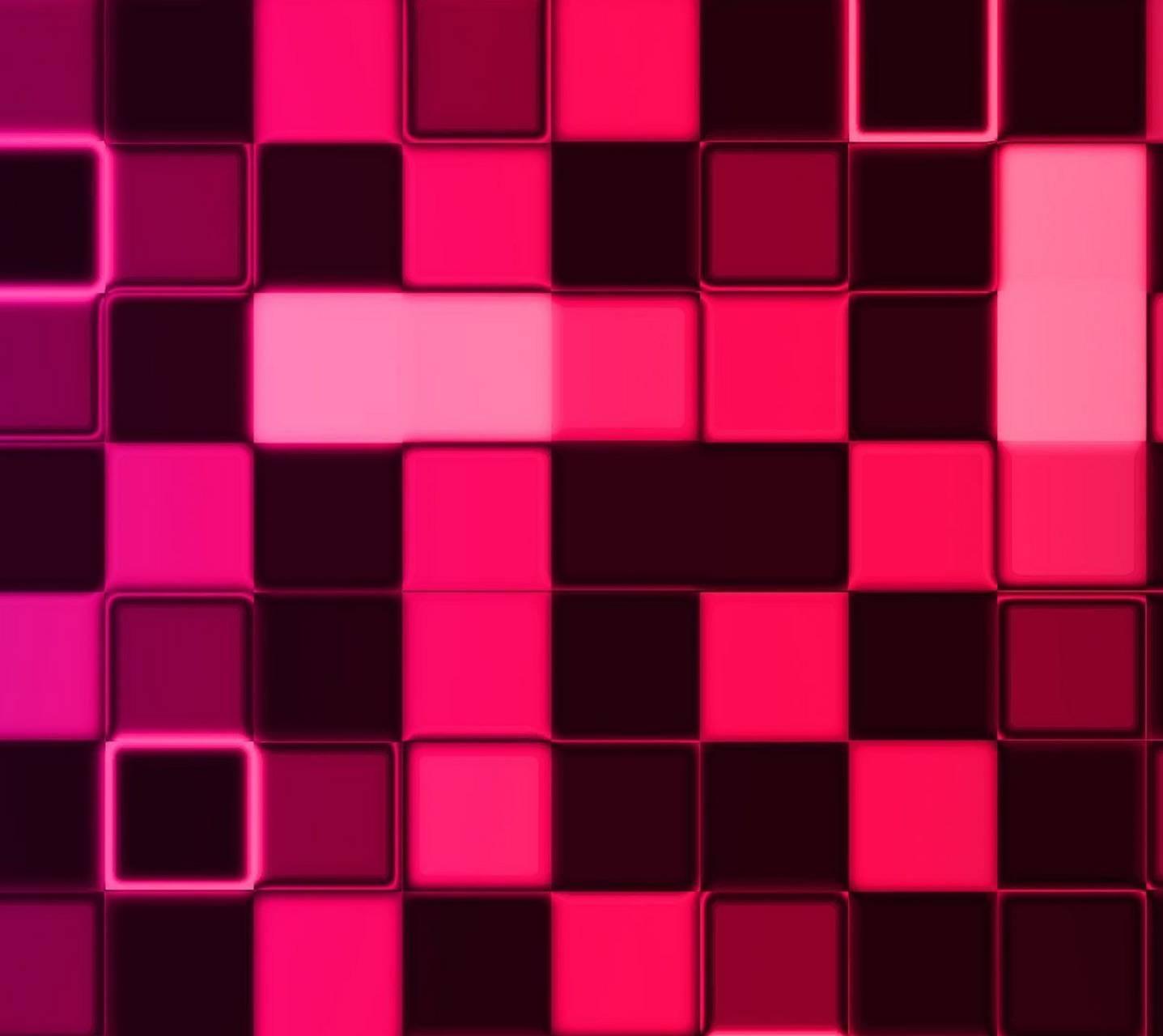 Pink Cube Wall