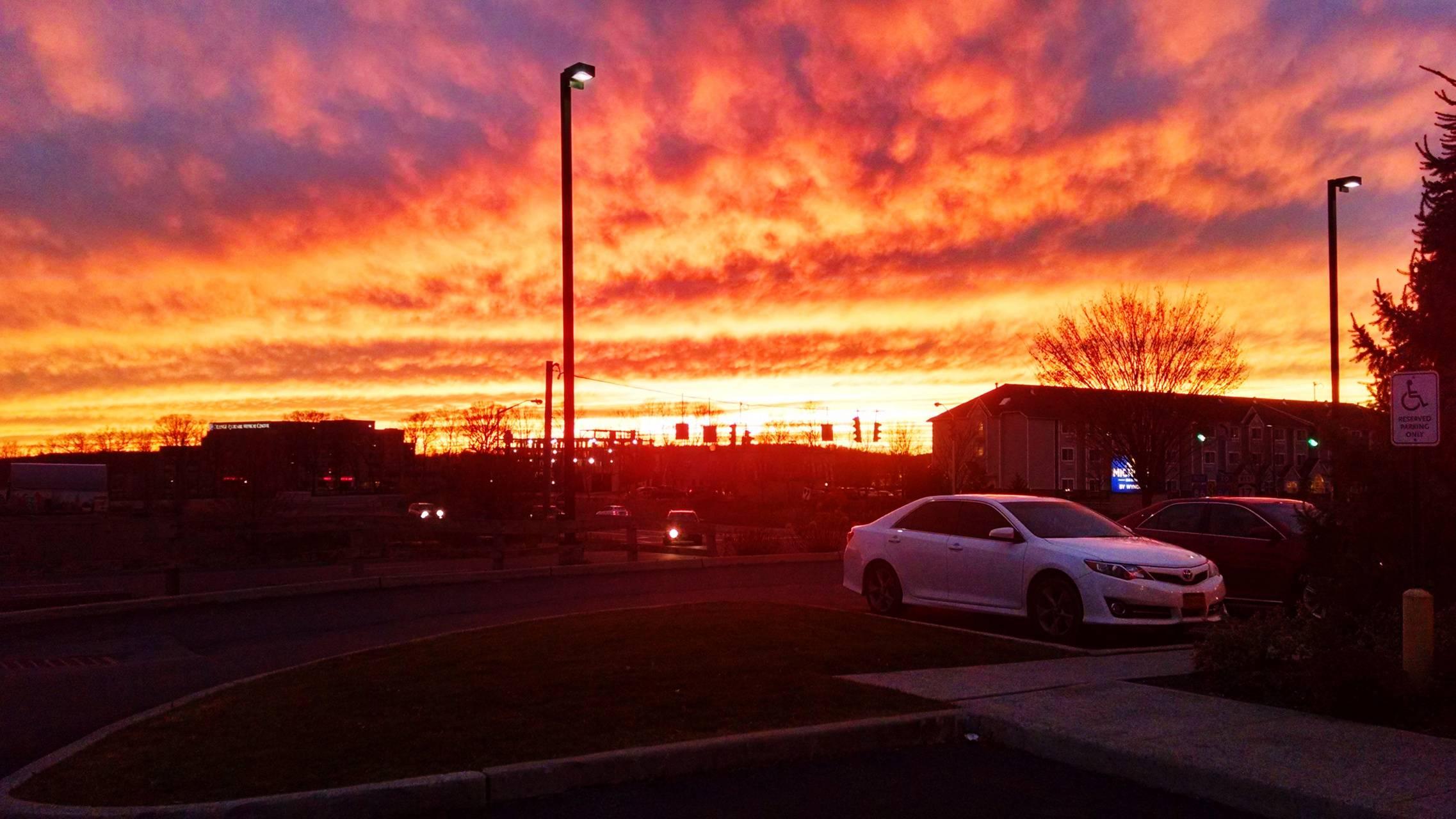 Sunset in Newburgh
