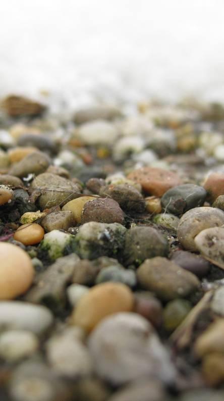 Snowy Pebbles Hd