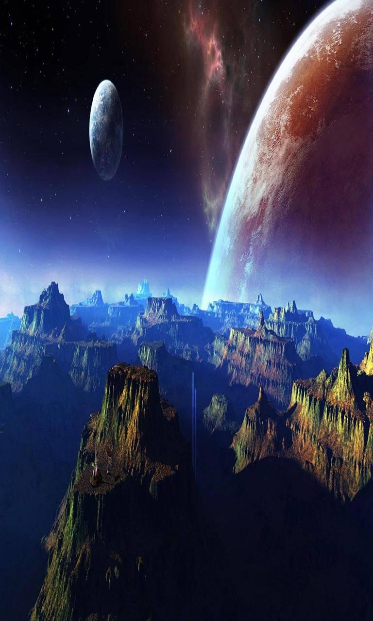 Mountain spacePlanet
