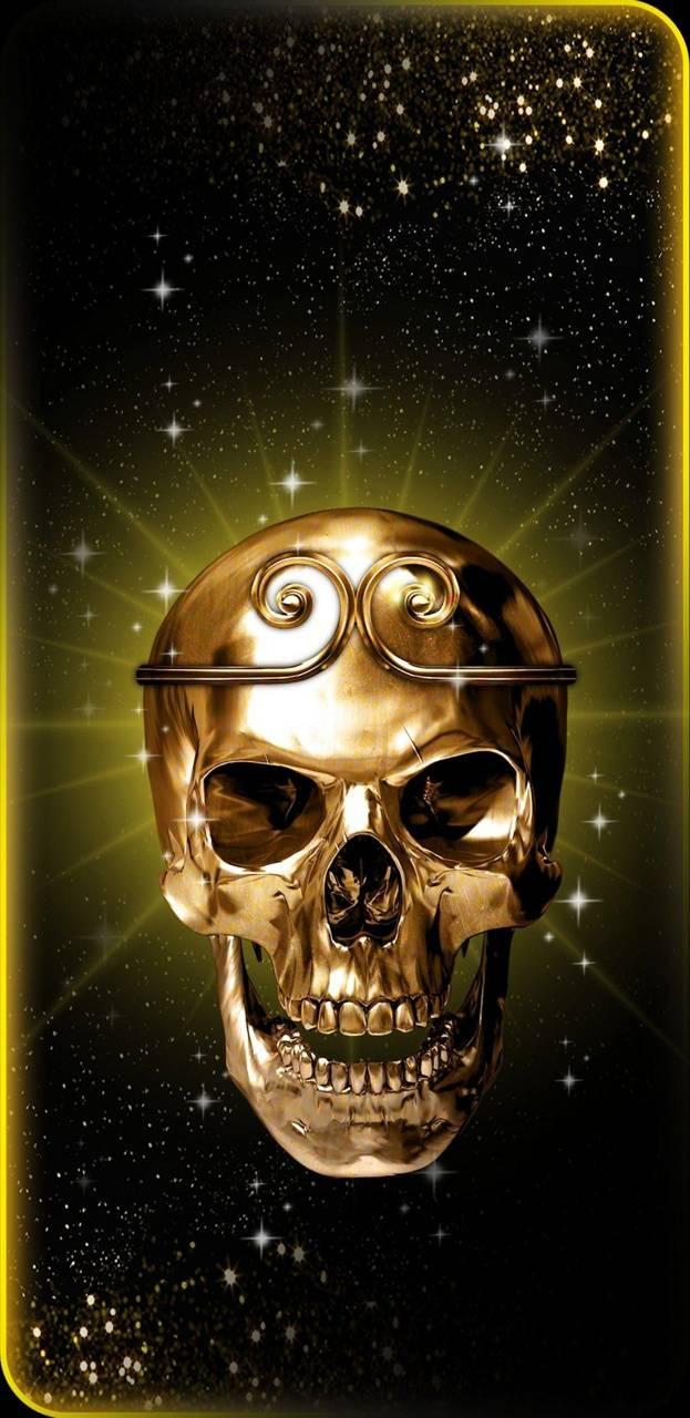 Golden skull halo