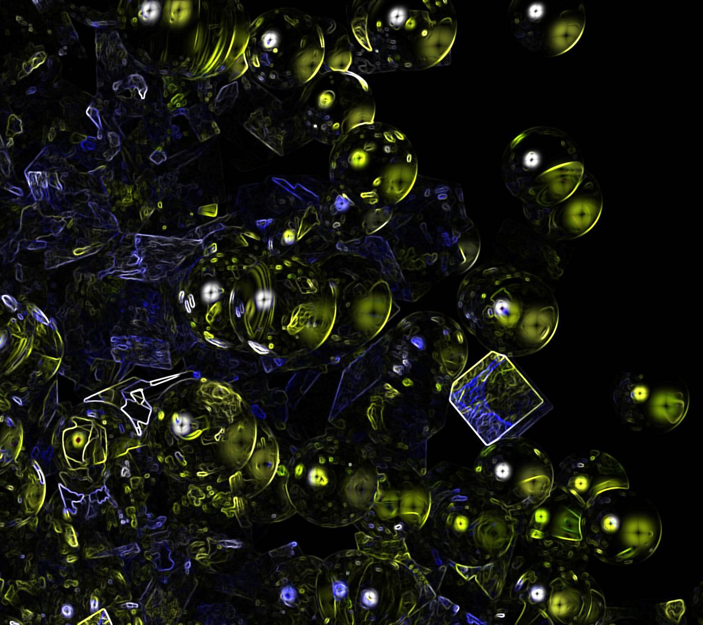sphere cube neon