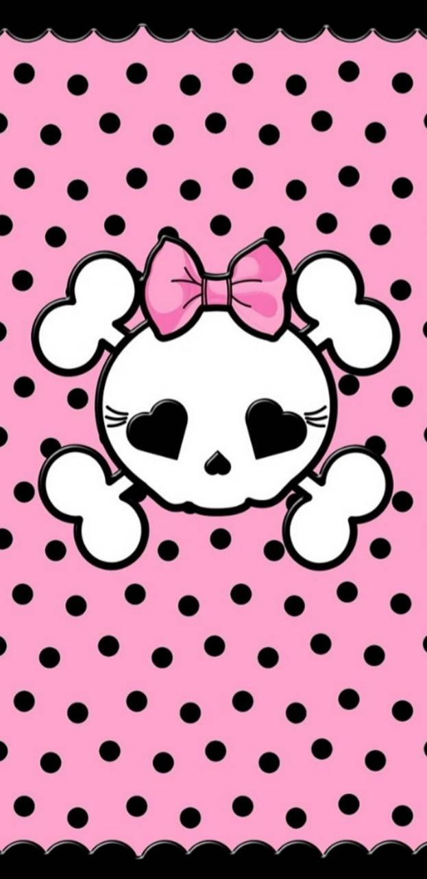 Cute Skull PB wallpaper by