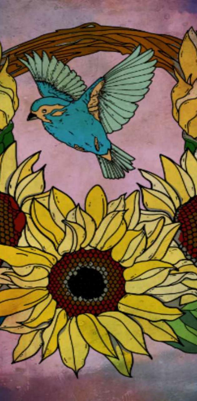 Acid Sunflowers
