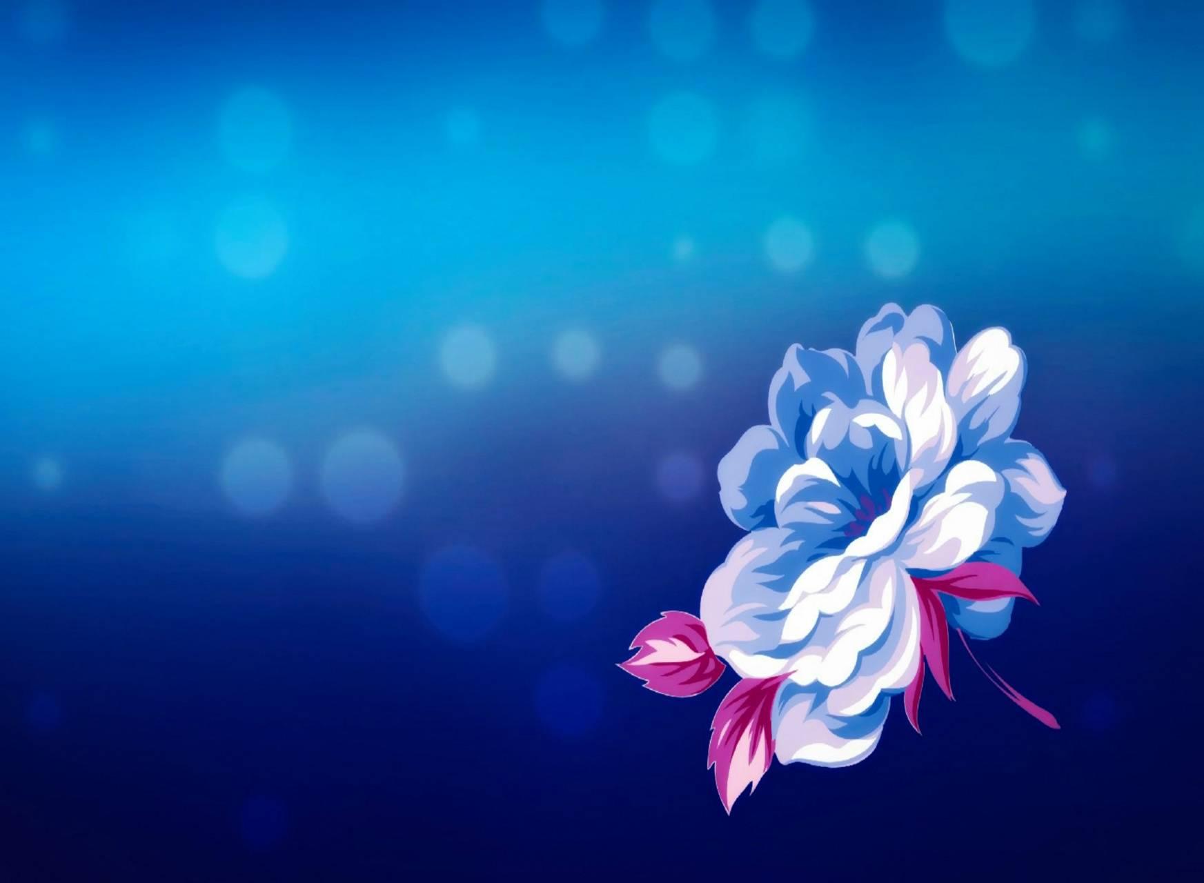 hd blue flower