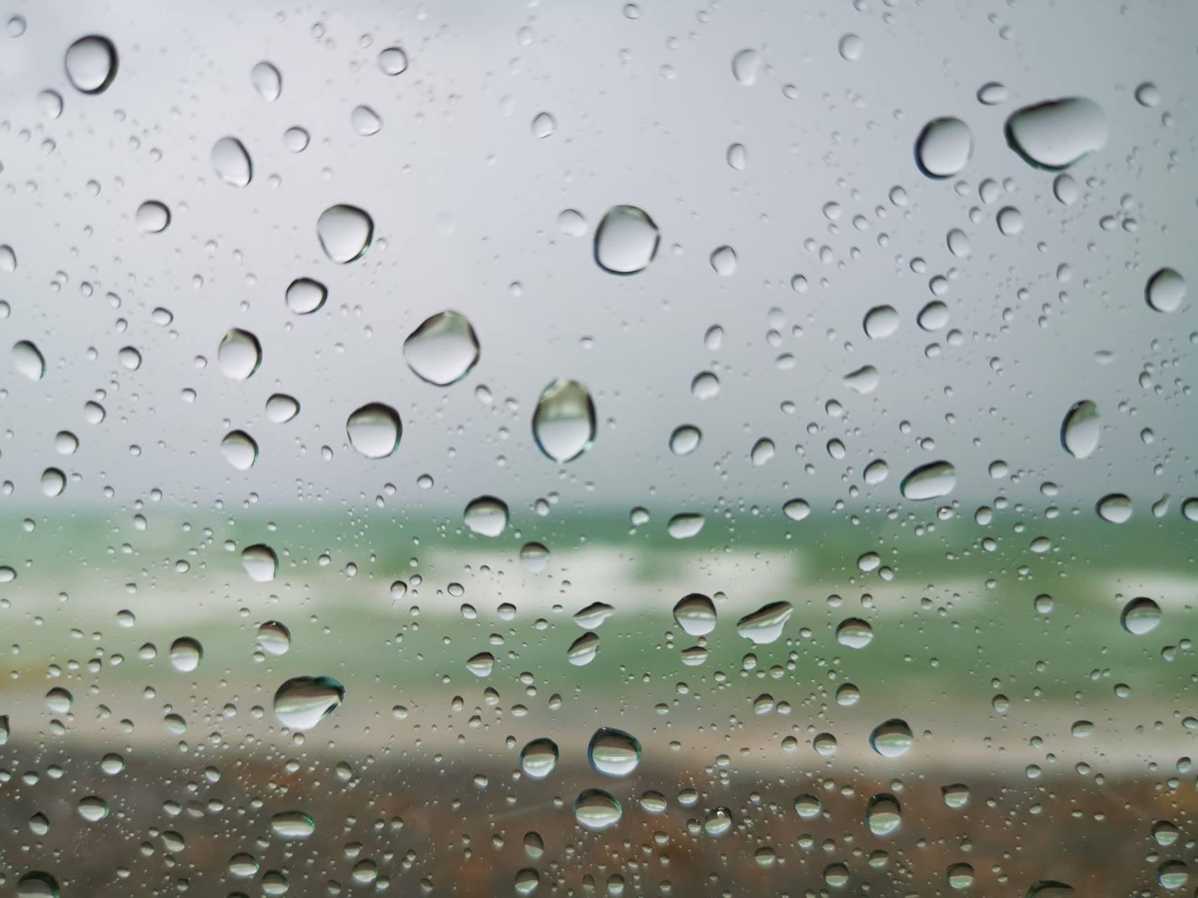 Sandbanks rain
