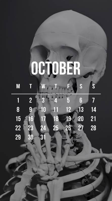 October Skeleton