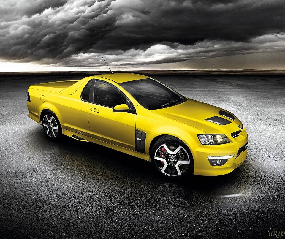 Yellow Holden Maloo