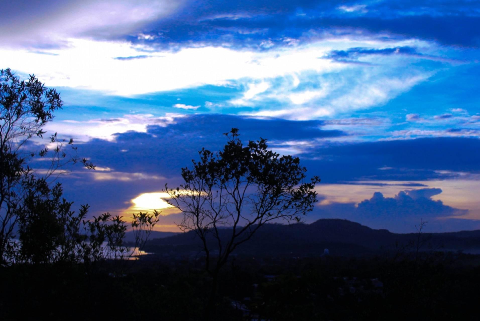 Sunset Blue Clouds