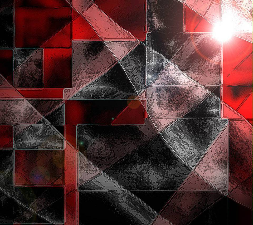 Abstract Red Black