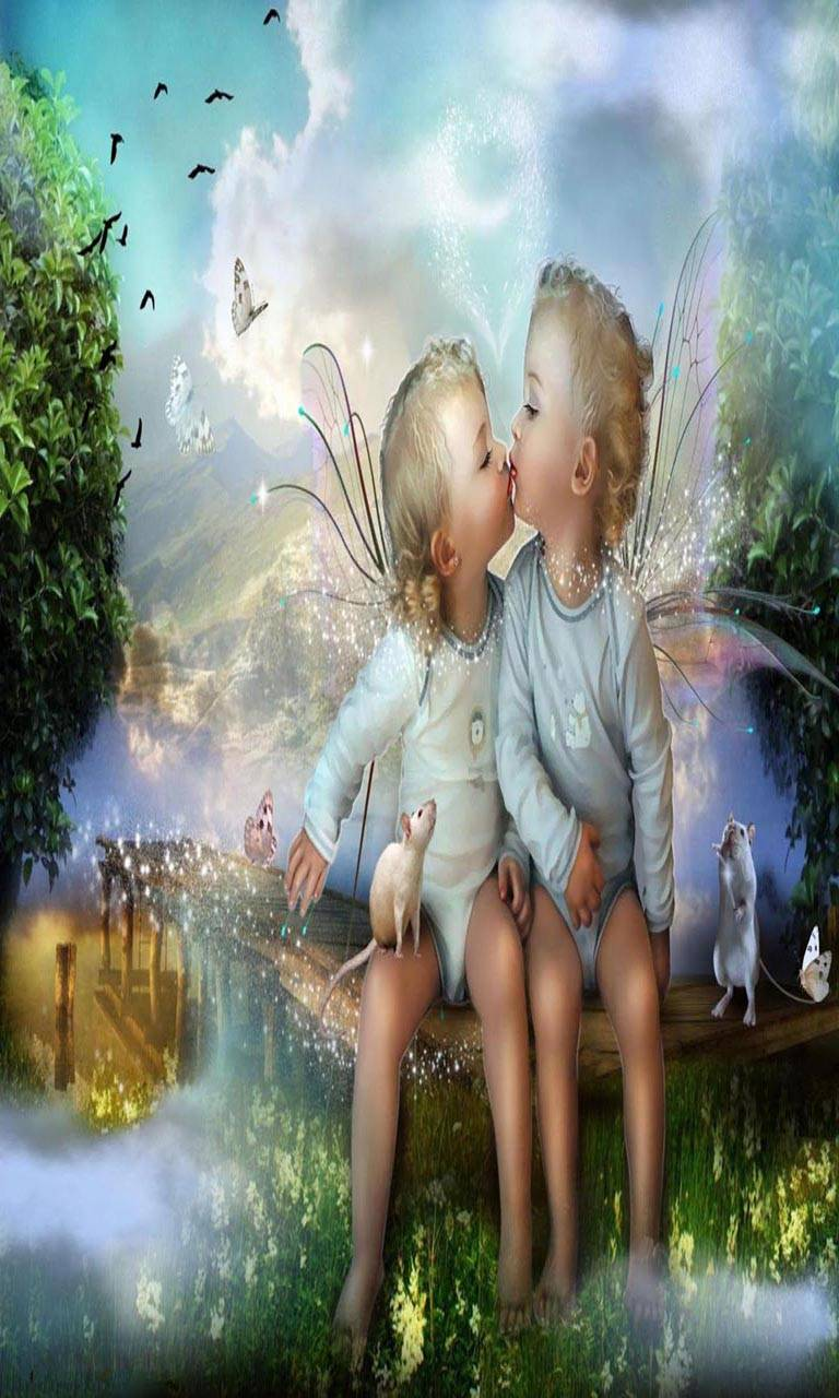 Little angels kiss