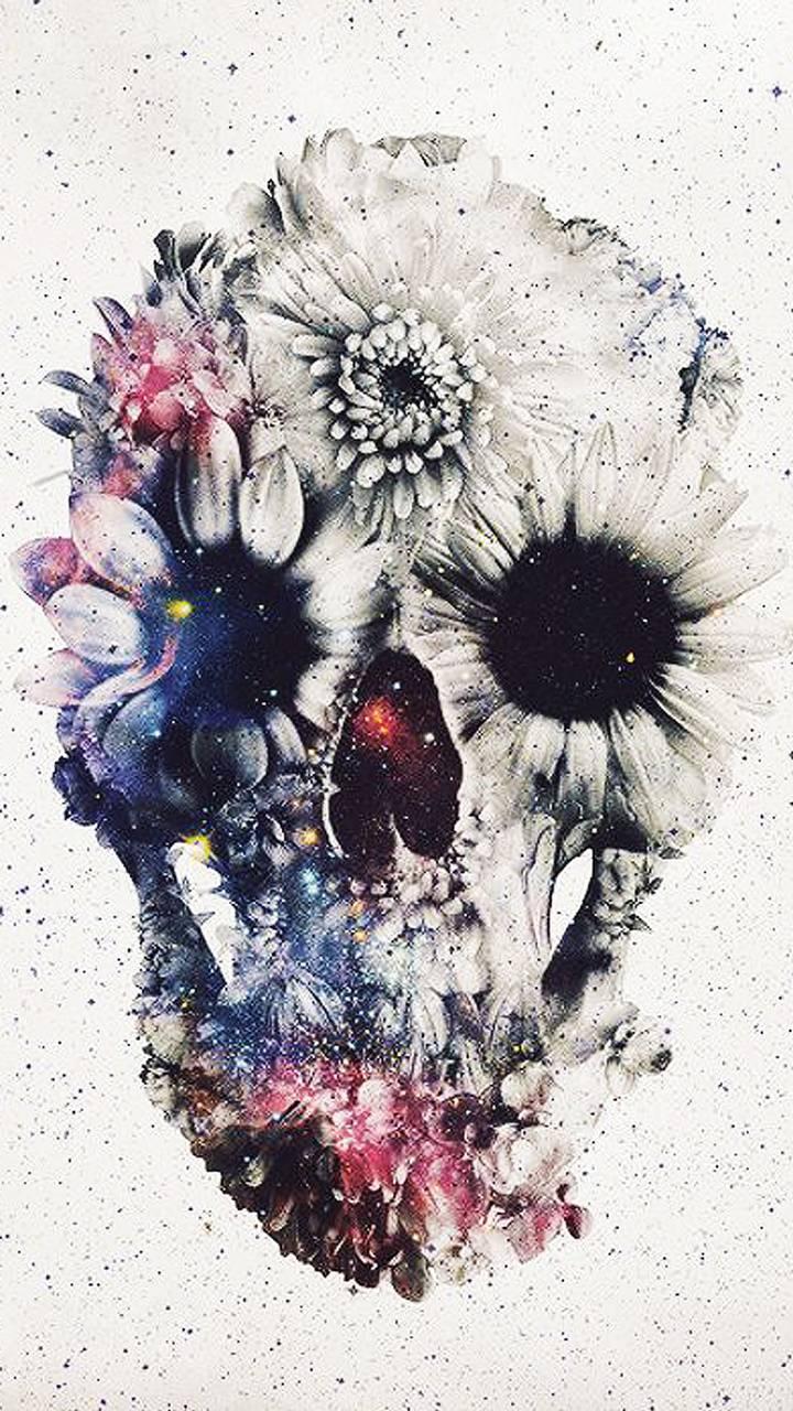 Flower Skull Wallpaper By 4 Eva Ef Free On Zedge