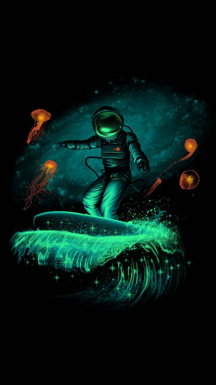 Space surfers