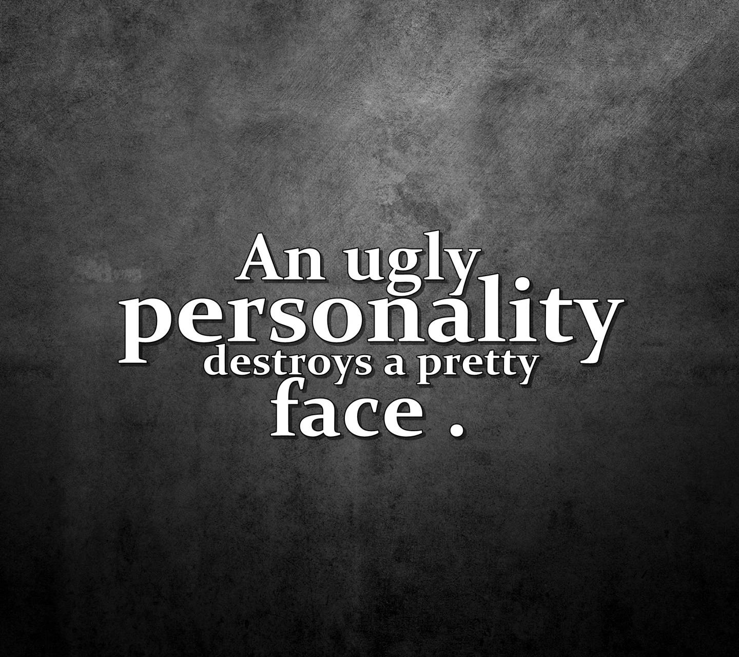 ugly person