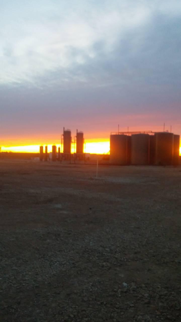 Oilfeild Sunset