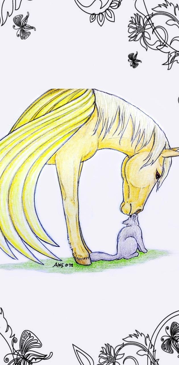Pegasus and Cat art