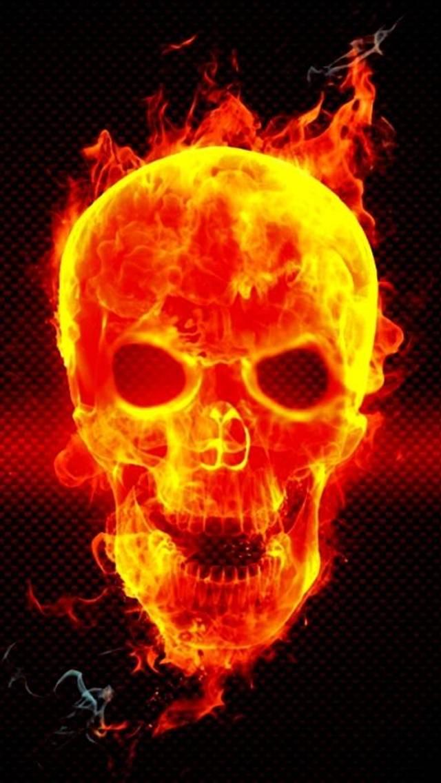 Fire Head Skeleton Wallpaper By CLASSY