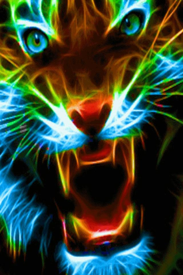 Neon Tiger Wallpaper By Sonico005 0c Free On Zedge