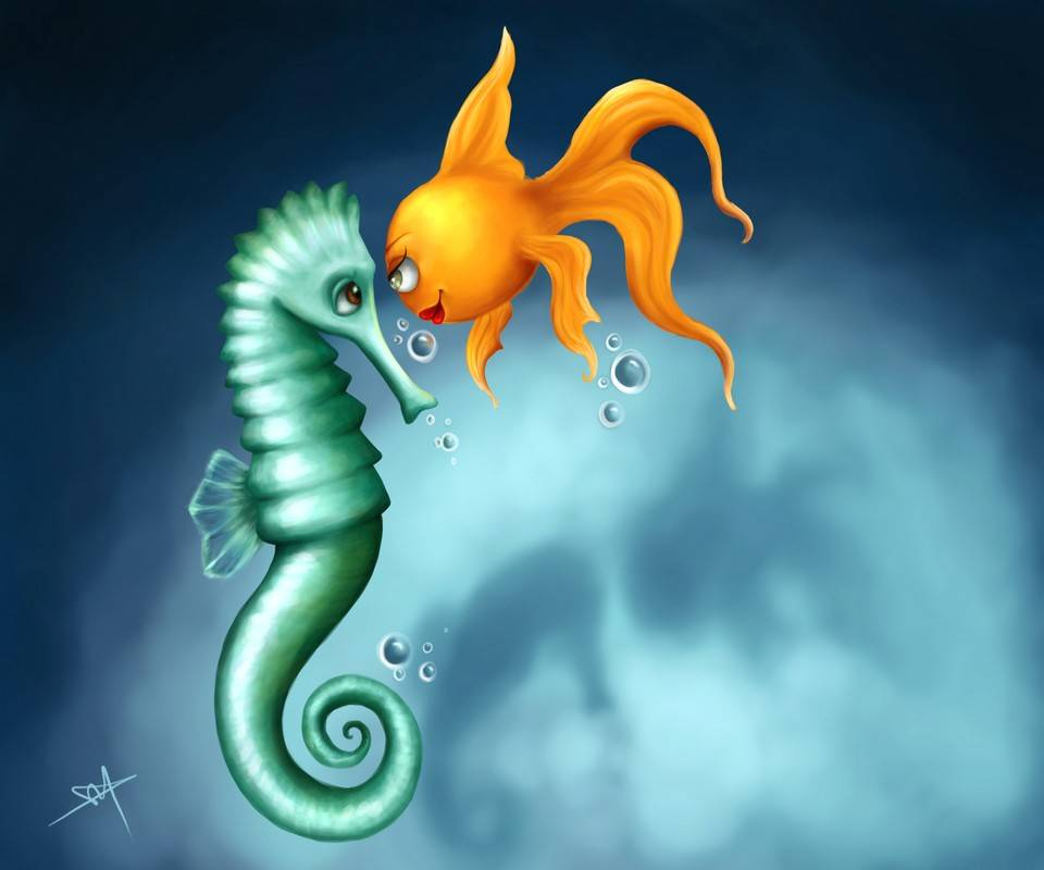 Seahorse And Friend