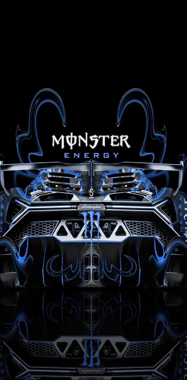 Monster Blue Car