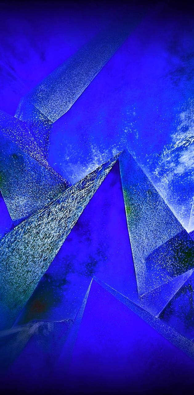 Blue abstract gem
