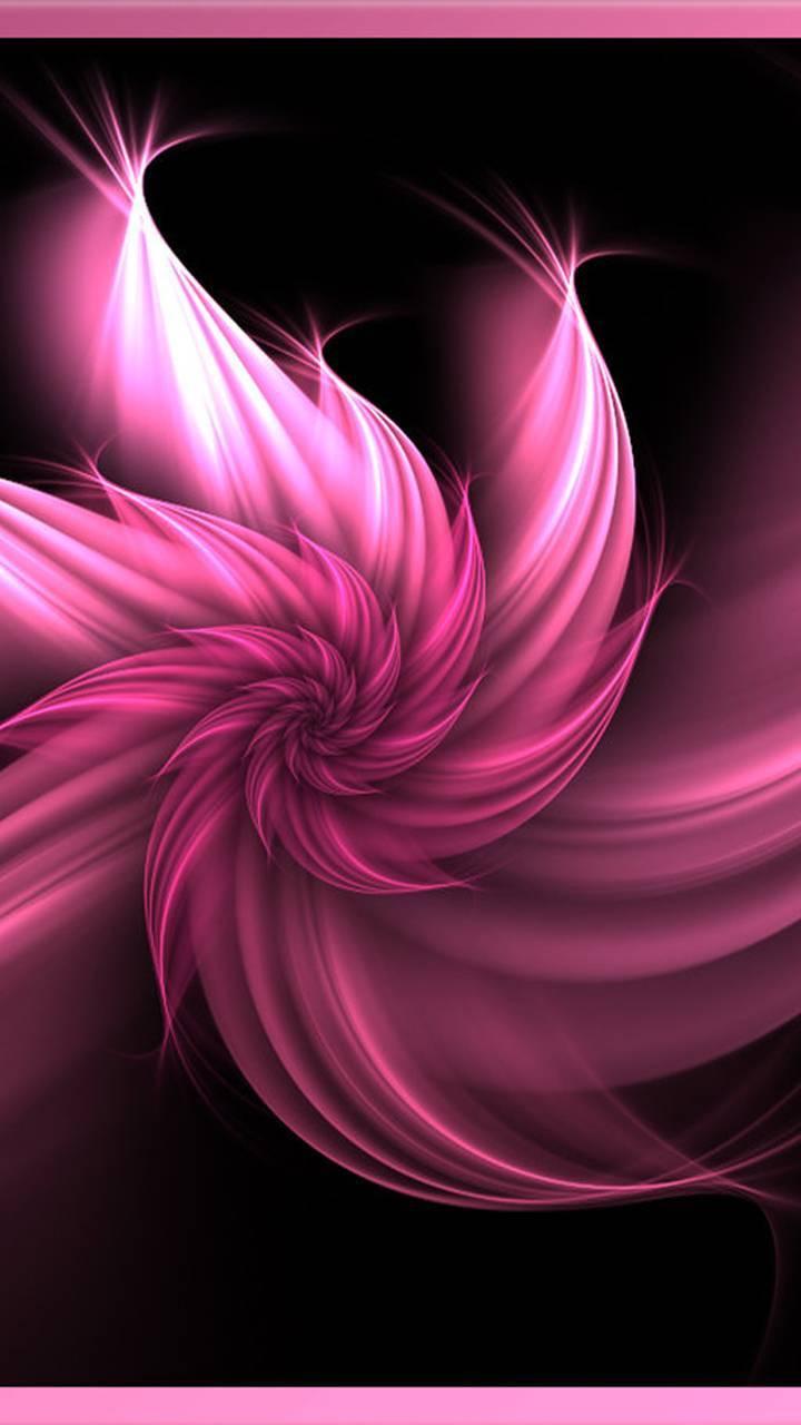 Pink fuzzy swirl