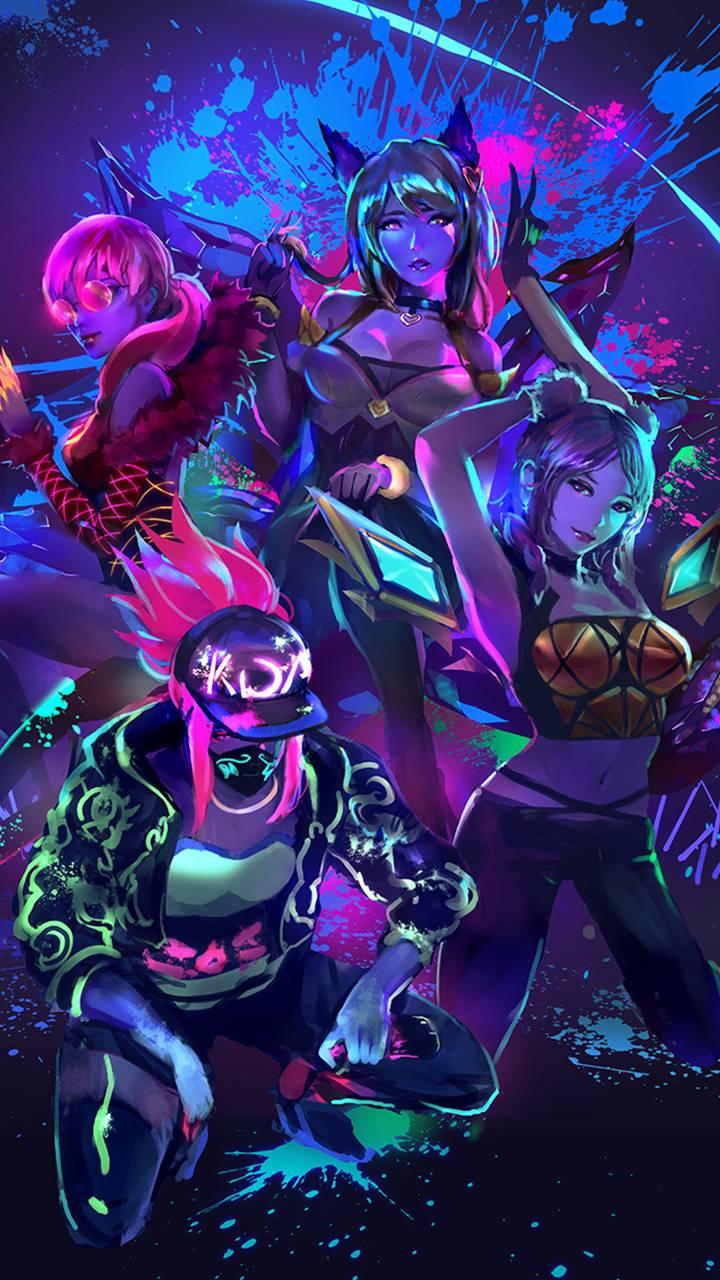 League Of Legends Kda Phone Wallpaper - Singebloggg