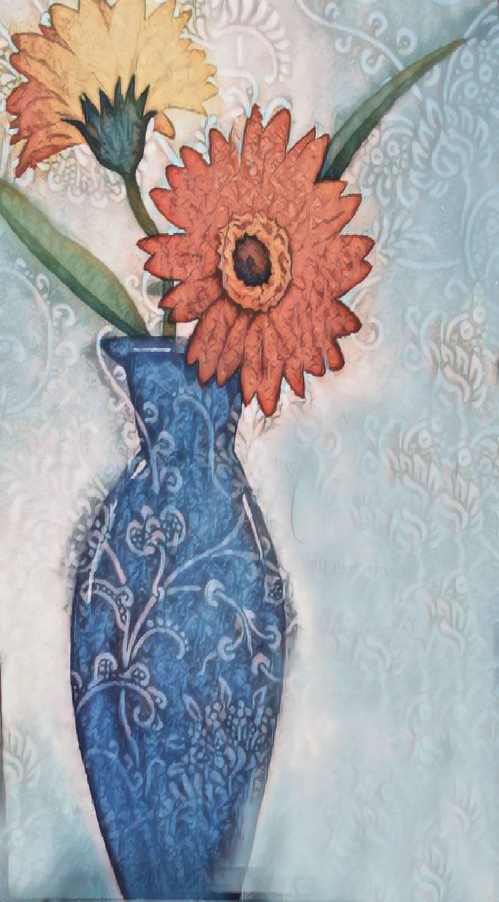 the vase