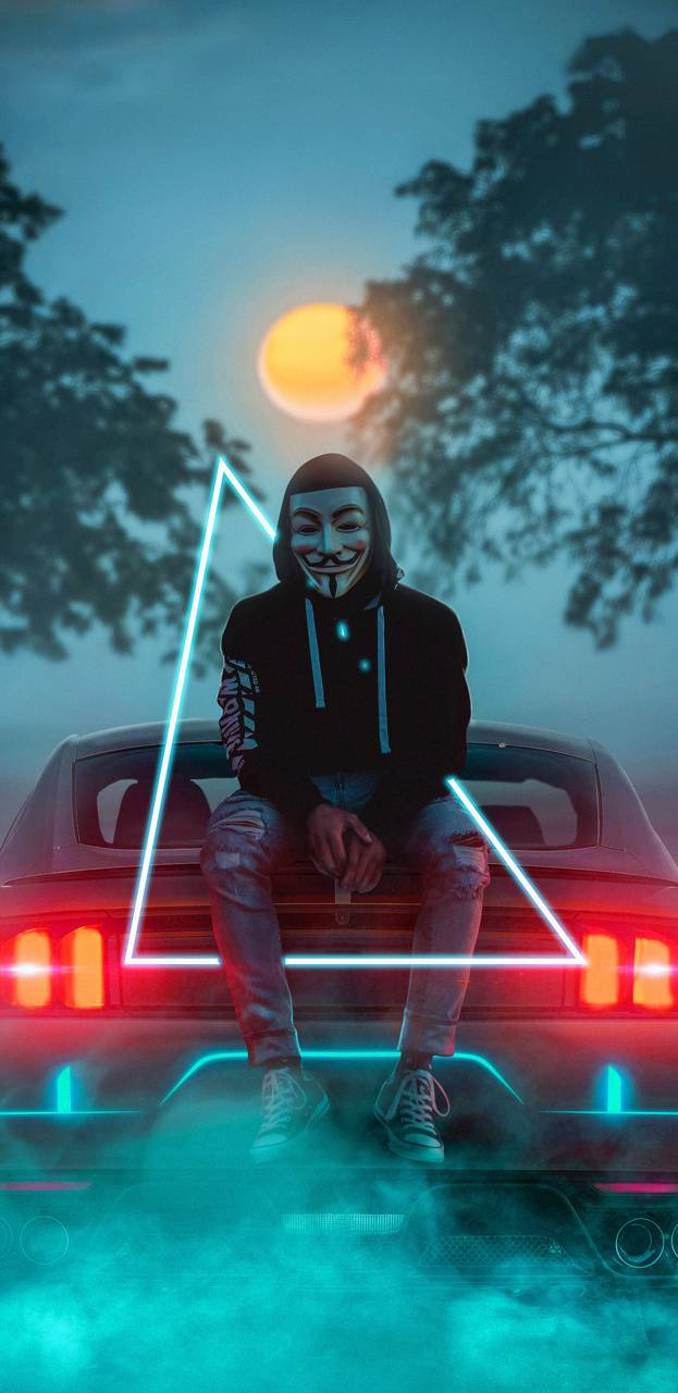 neon mask blue wallpaper by ScreamingYoung - 69 - Free on ...
