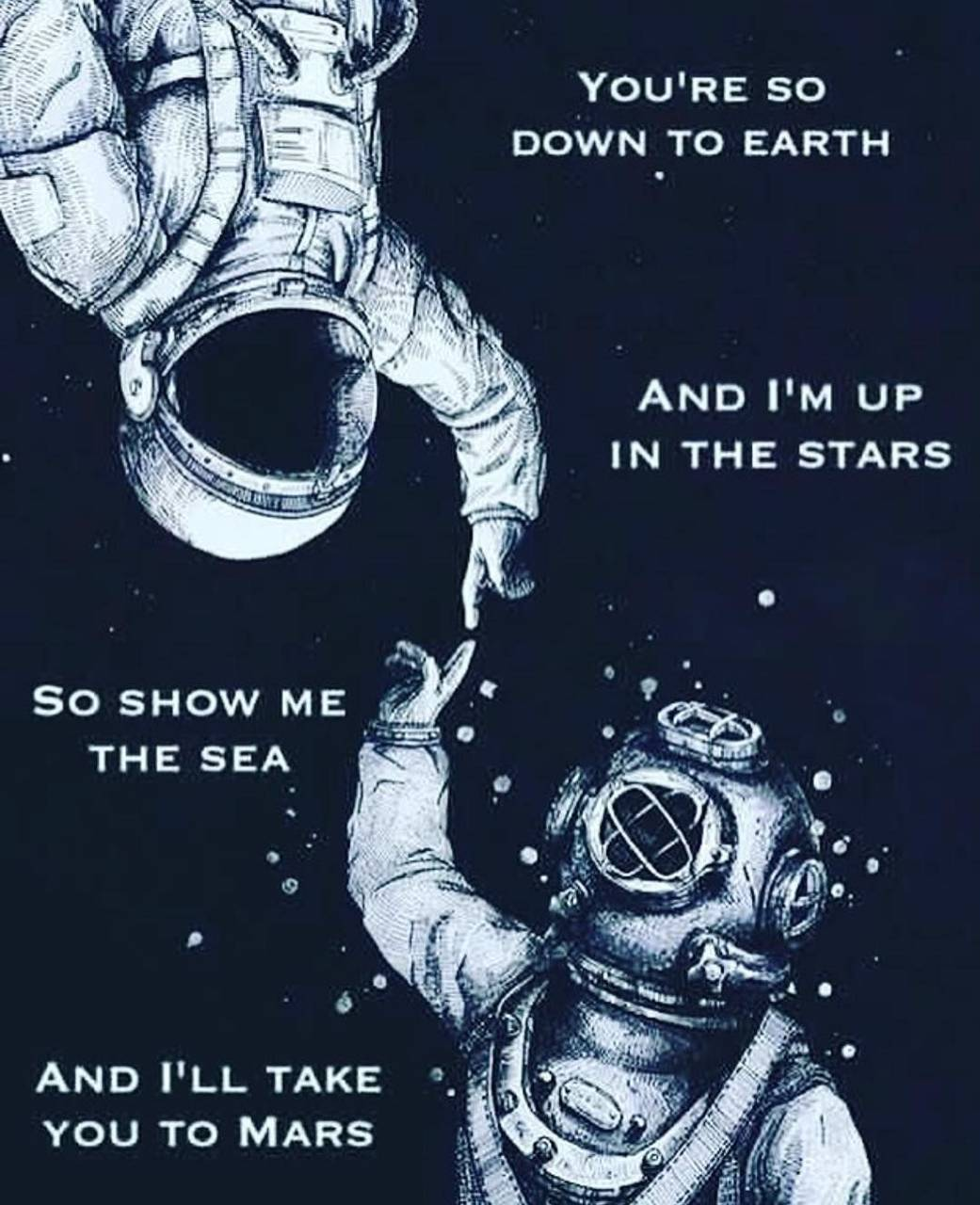 Astronaut and diver