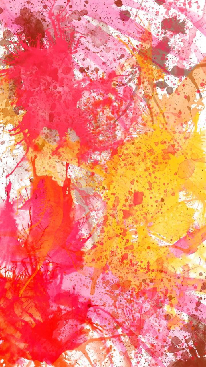 Red Paint Splatter