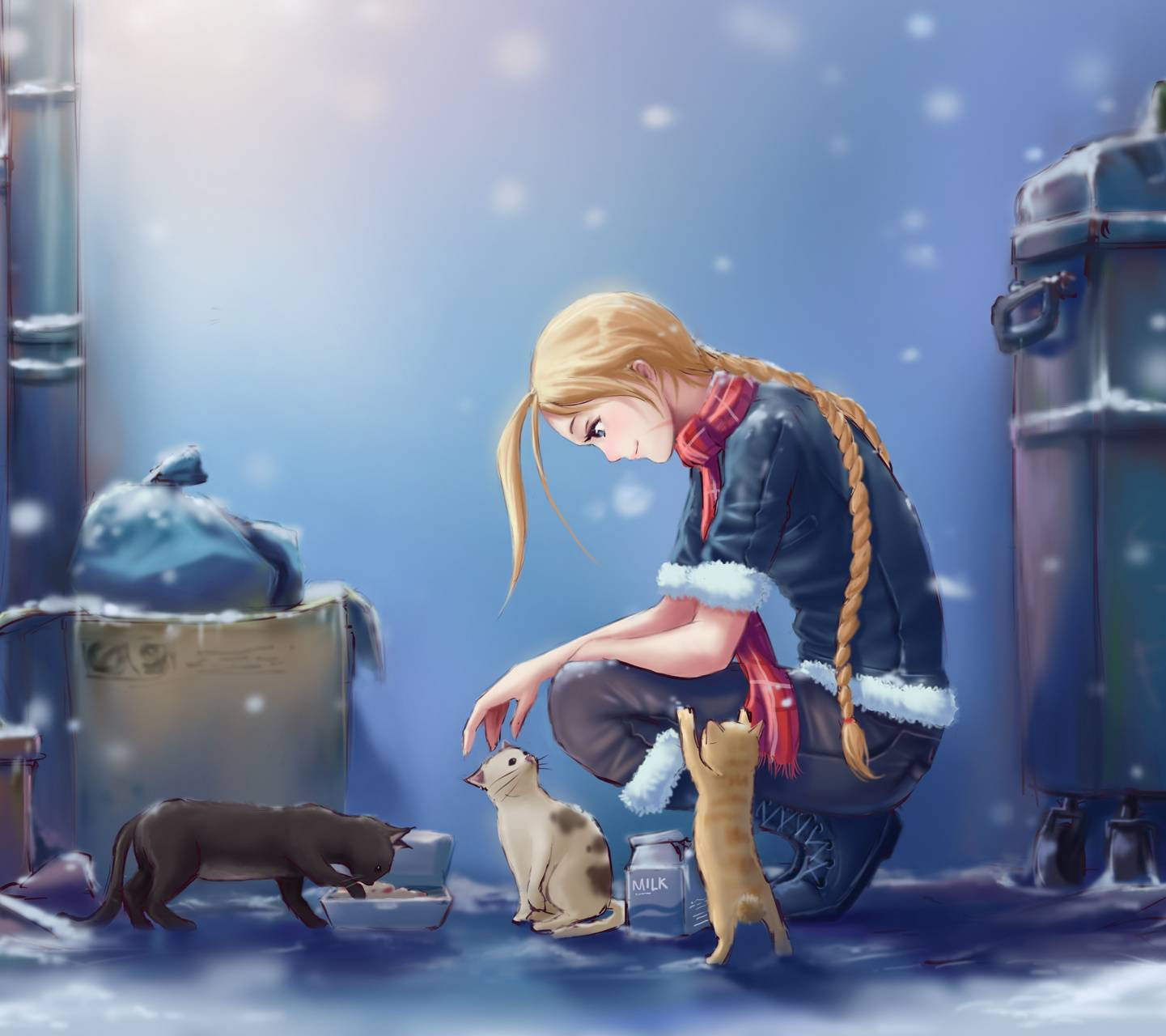 Cammy with cats
