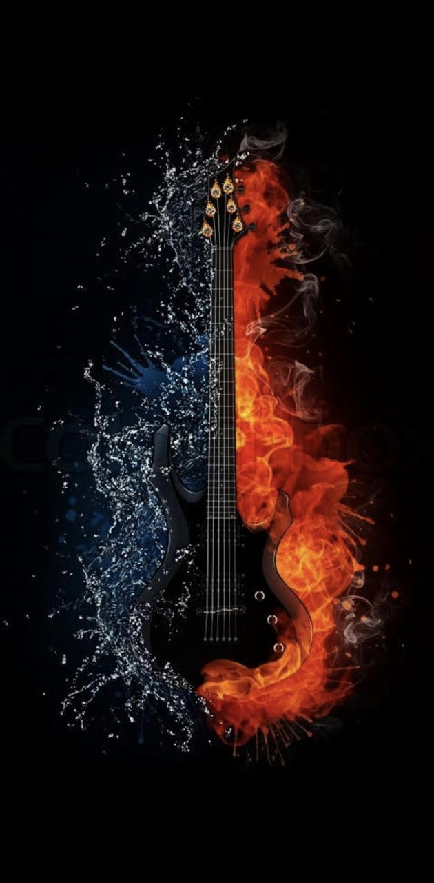 Water Fire Guitar