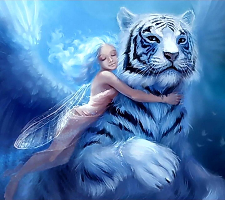 Тигр с крыльями картинка