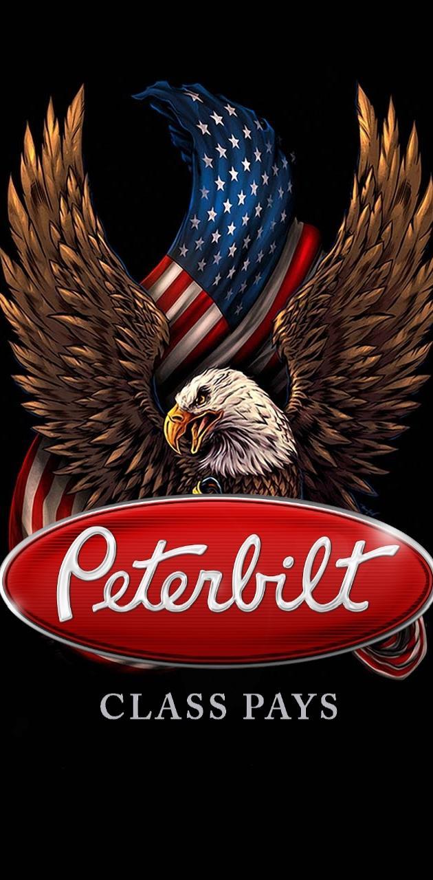Peterbilt eagle flag