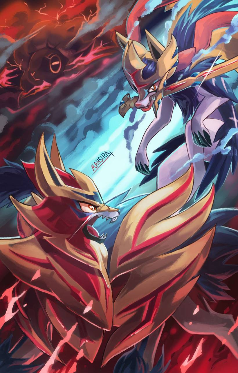 Zacian And Zamazenta Wallpaper By Thespawner97 1a Free On Zedge