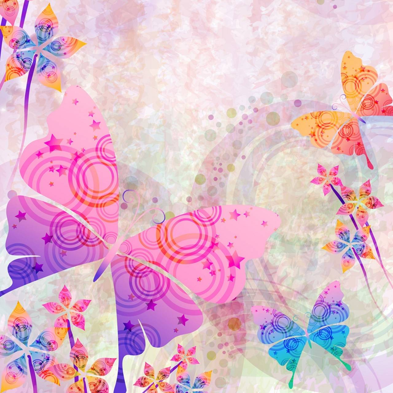 Butterfly Girly Pink