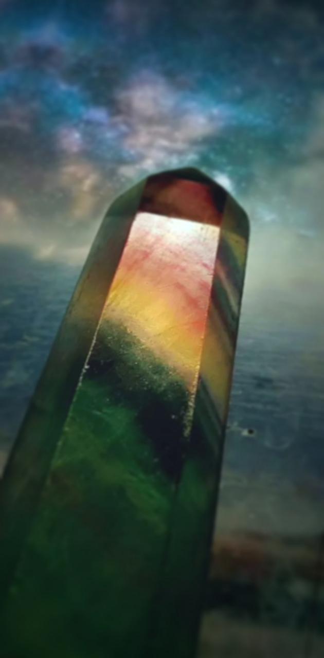 Fluorite obelisk