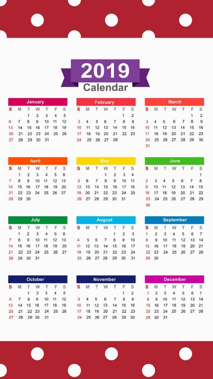 2019 Calendar v10