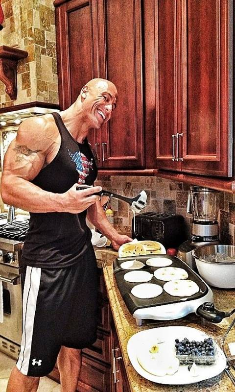 The Rock Is Cooking