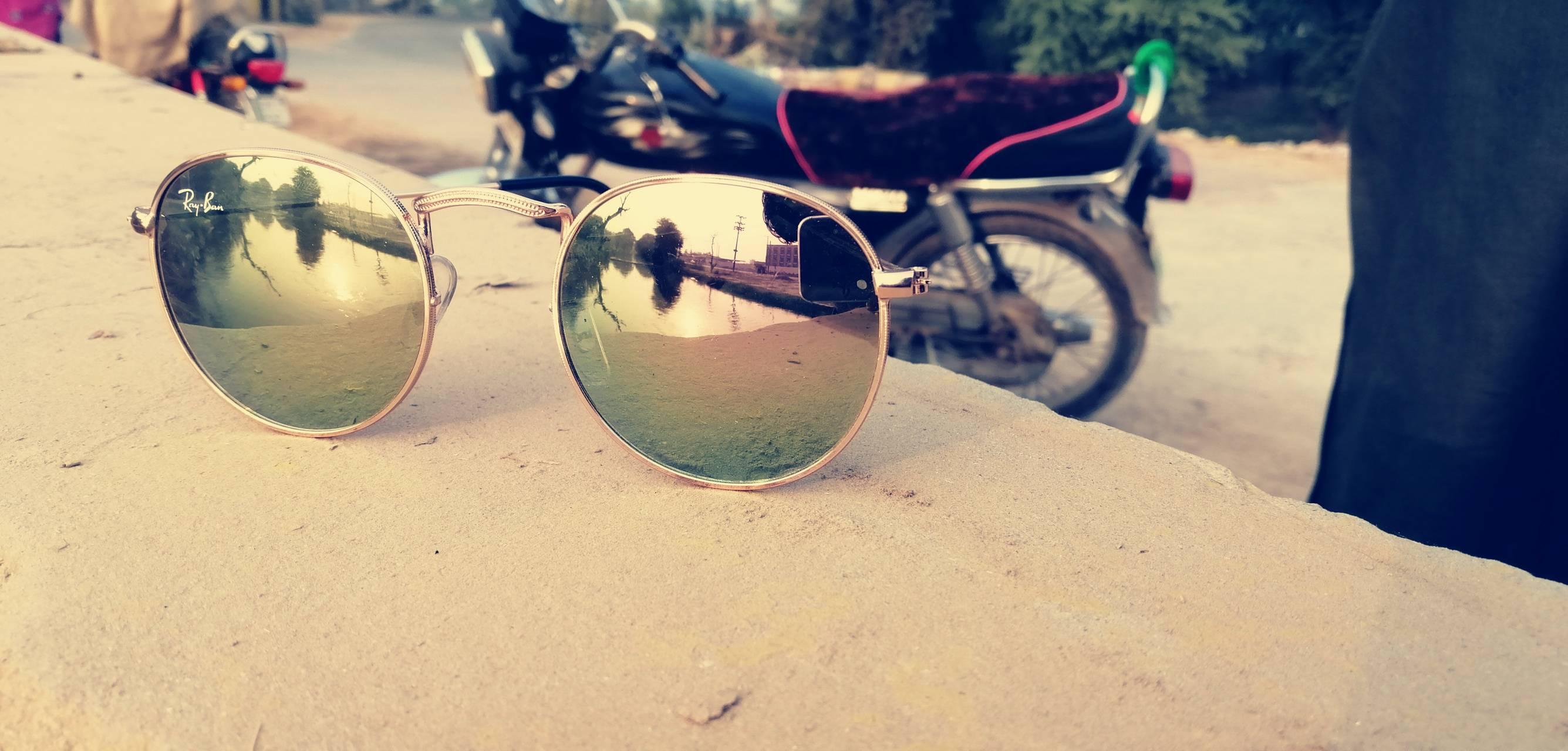 Sunset in glasses