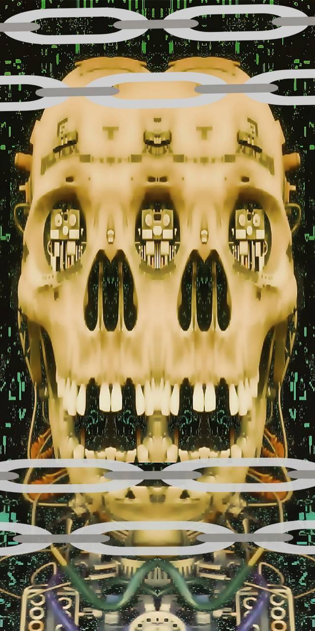 Alien Cyber skull